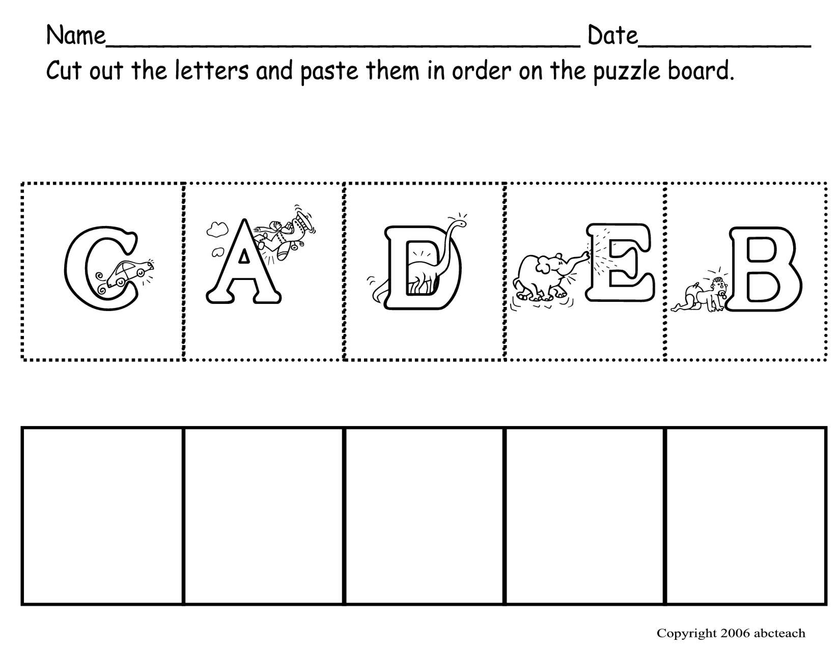 Preschool Worksheets Letters Free