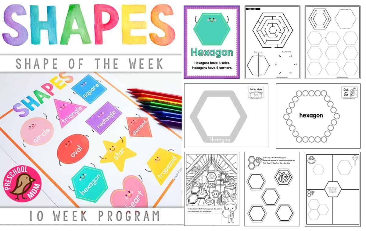 Preschool Worksheets Tracing Shapes