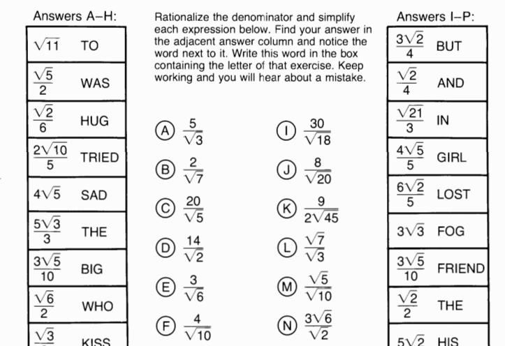 Culinary Math Worksheets And Answers