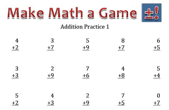 Math Worksheets Addition To 10
