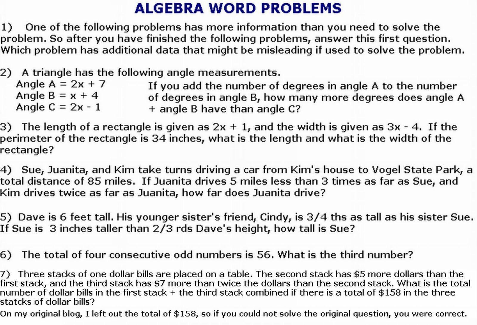 Math Worksheets Algebra 2 2