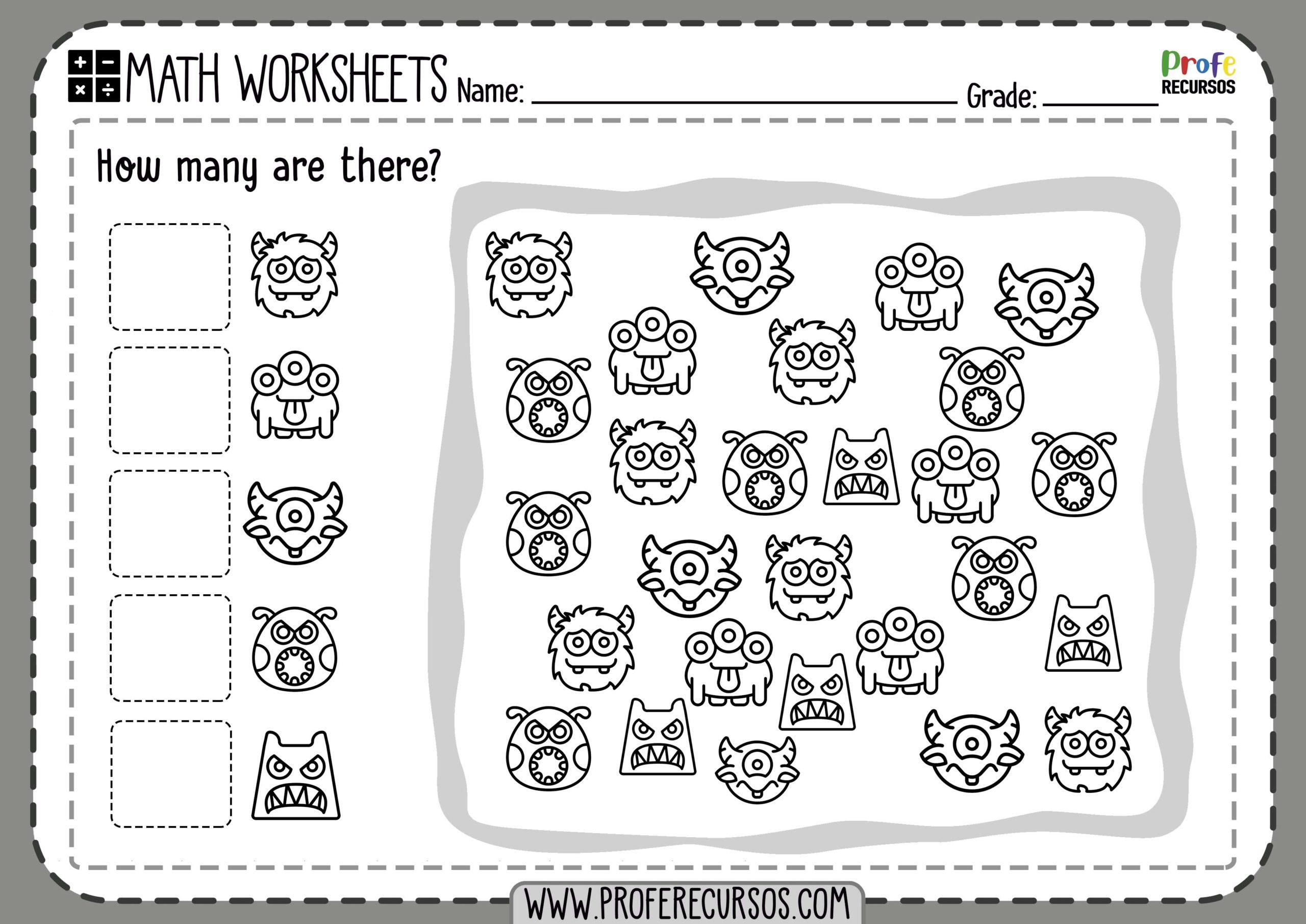 Math Worksheets Counting To 10
