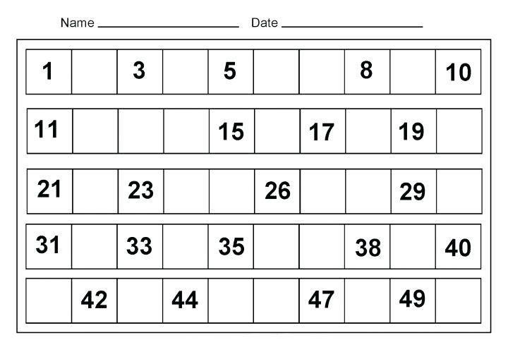 Math Worksheets For Kindergarten 2