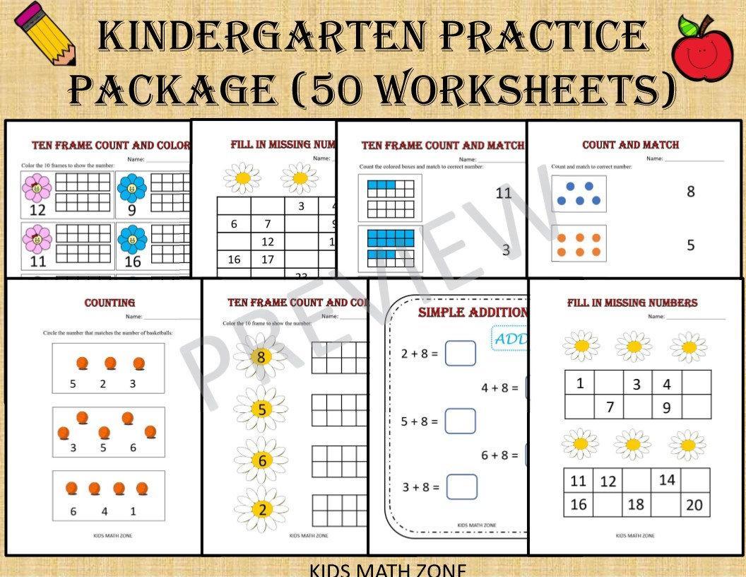 Math Worksheets For Kindergarten And 1st Grade