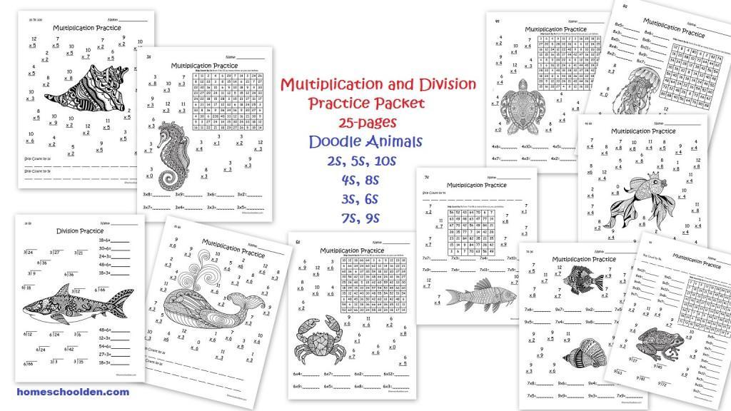 Math Worksheets Mixed Multiplication And Division