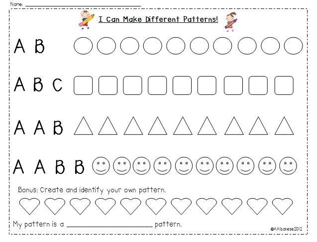 Patterns Worksheets For Preschool Pdf
