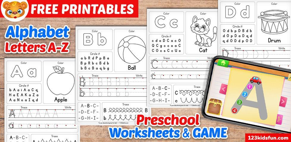Preschool Alphabet Worksheets A-z