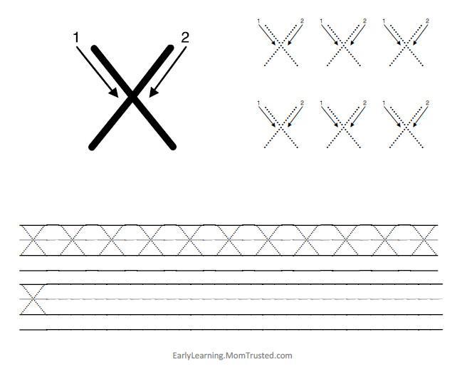 Preschool Alphabet X Worksheet 4