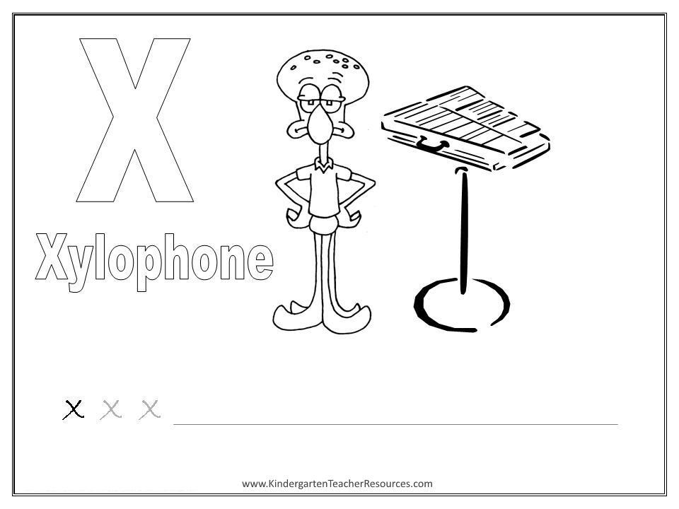 Preschool Alphabet X Worksheet 8