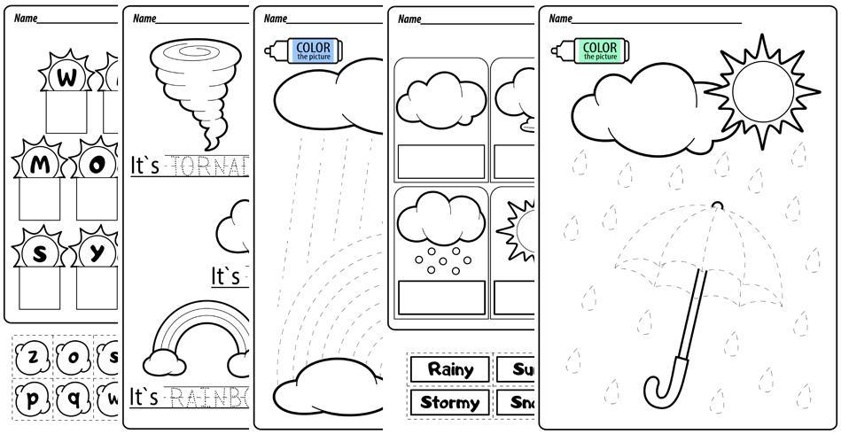 Preschool Weather Math Worksheets