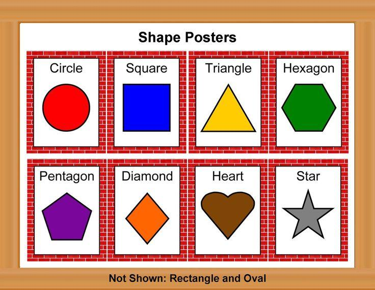 Preschool Worksheets For Shapes And Colors