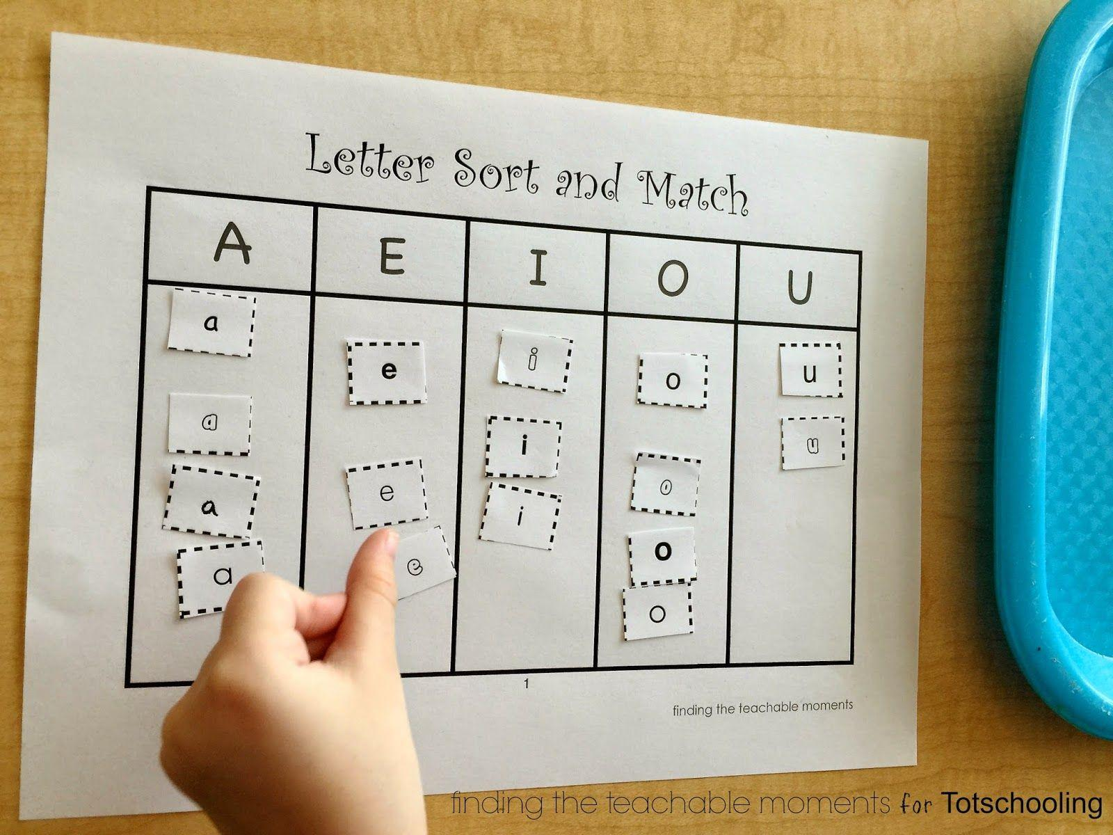 Preschool Worksheets Matching Upper Lowercase Letters 7