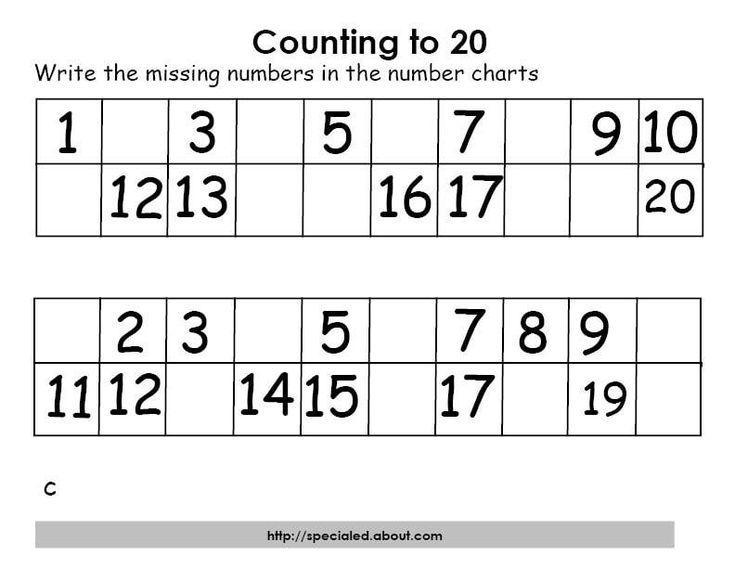 Preschool Worksheets Numbers 1-20 8