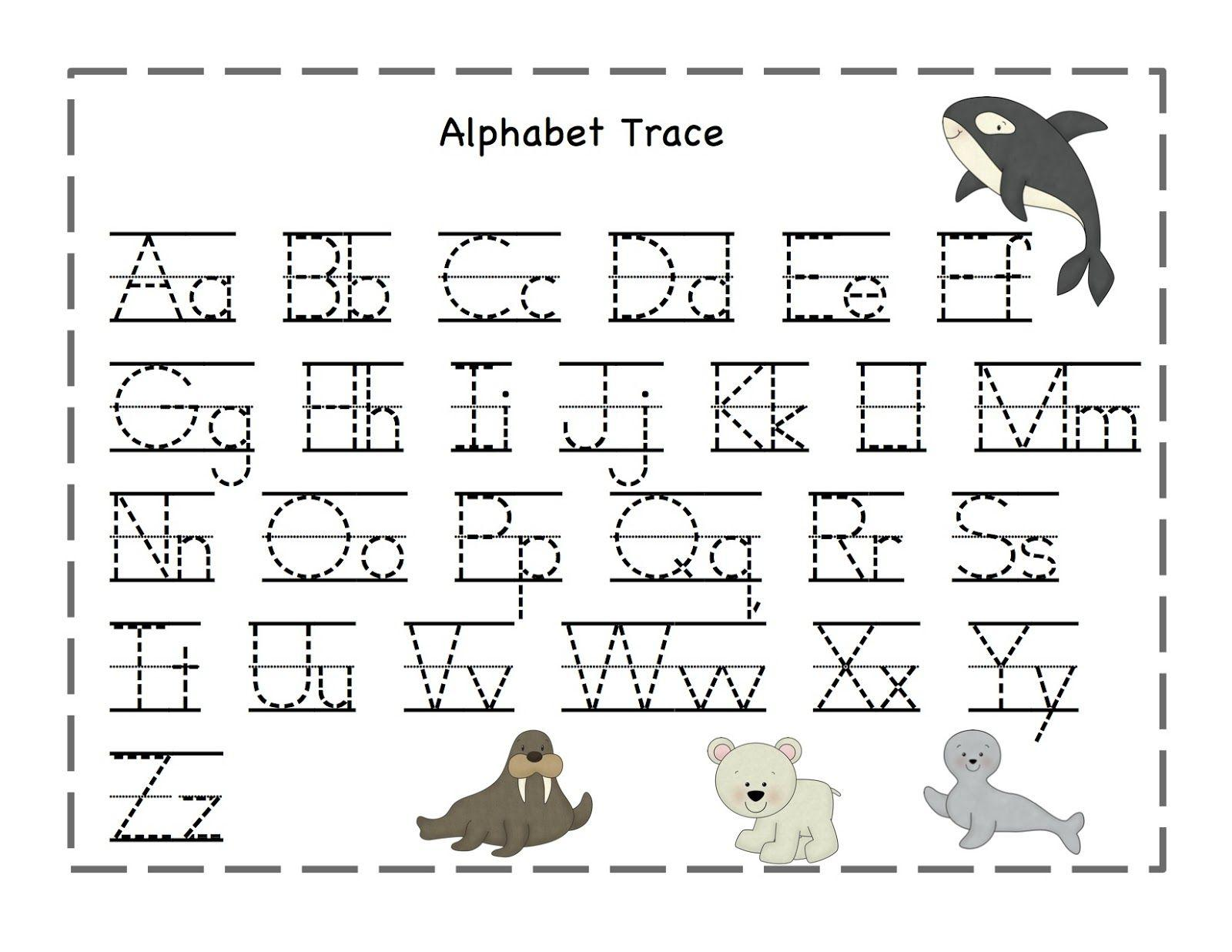 Preschool Worksheets Tracing Letters And Numbers 1