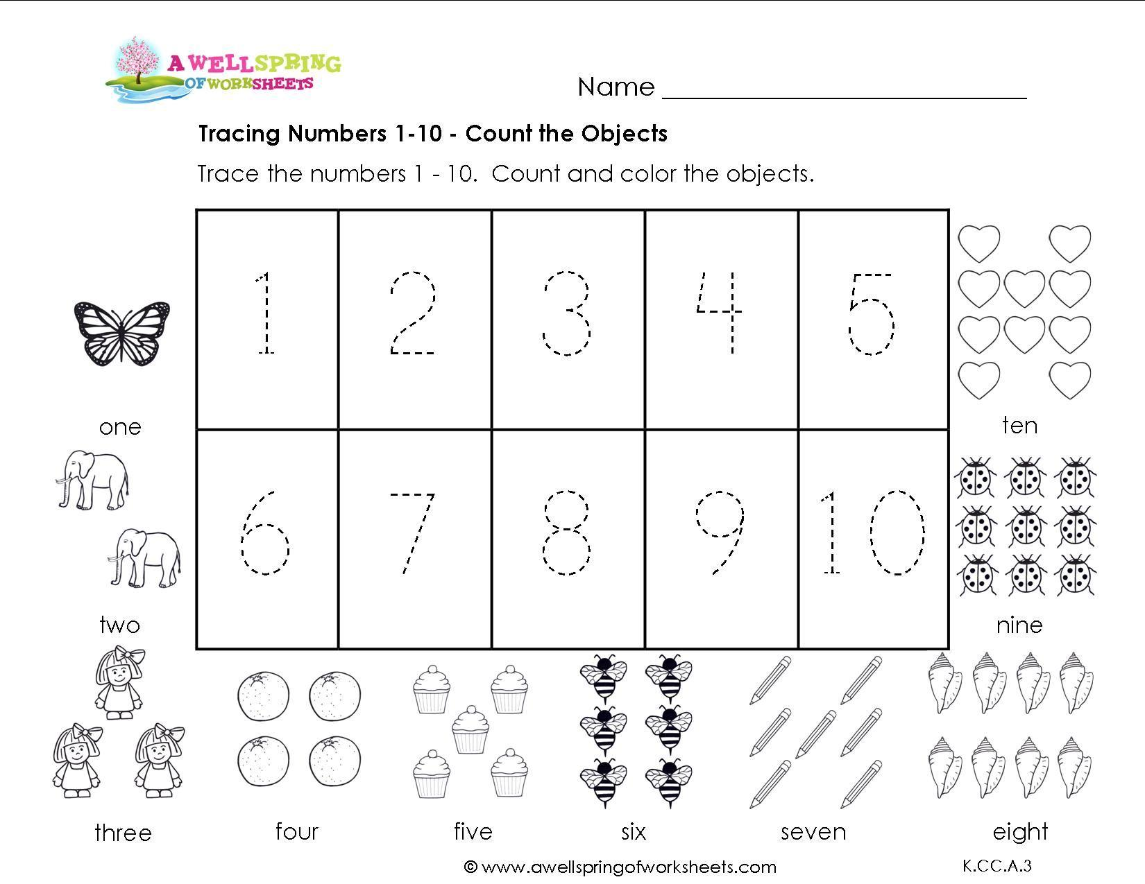 Preschool Worksheets Tracing Letters And Numbers 4