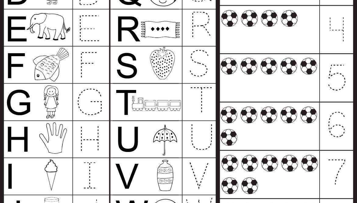 Preschool Worksheets Tracing Letters And Numbers 7