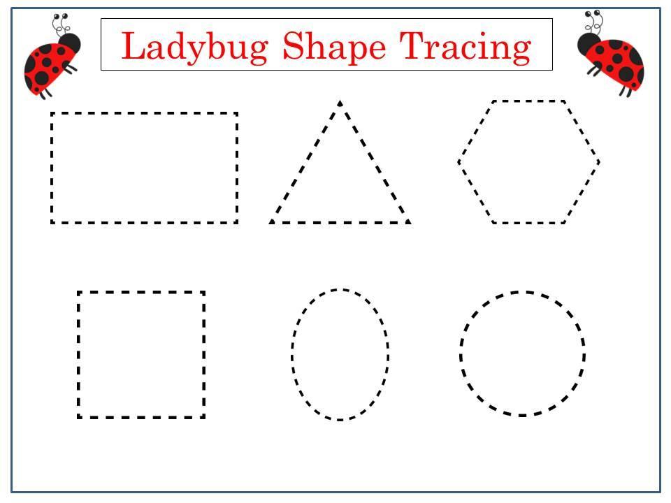 Preschool Worksheets Tracing Shapes 1
