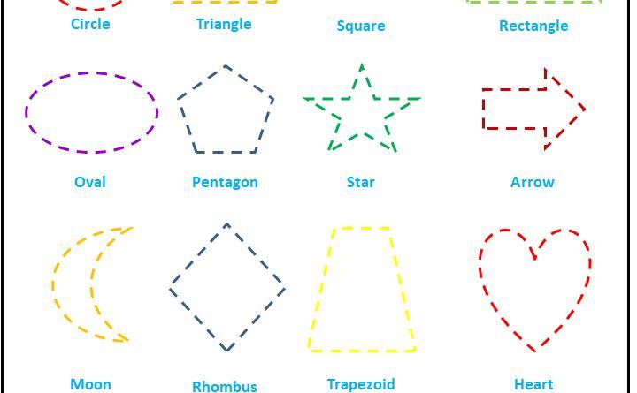 Preschool Worksheets Tracing Shapes 5