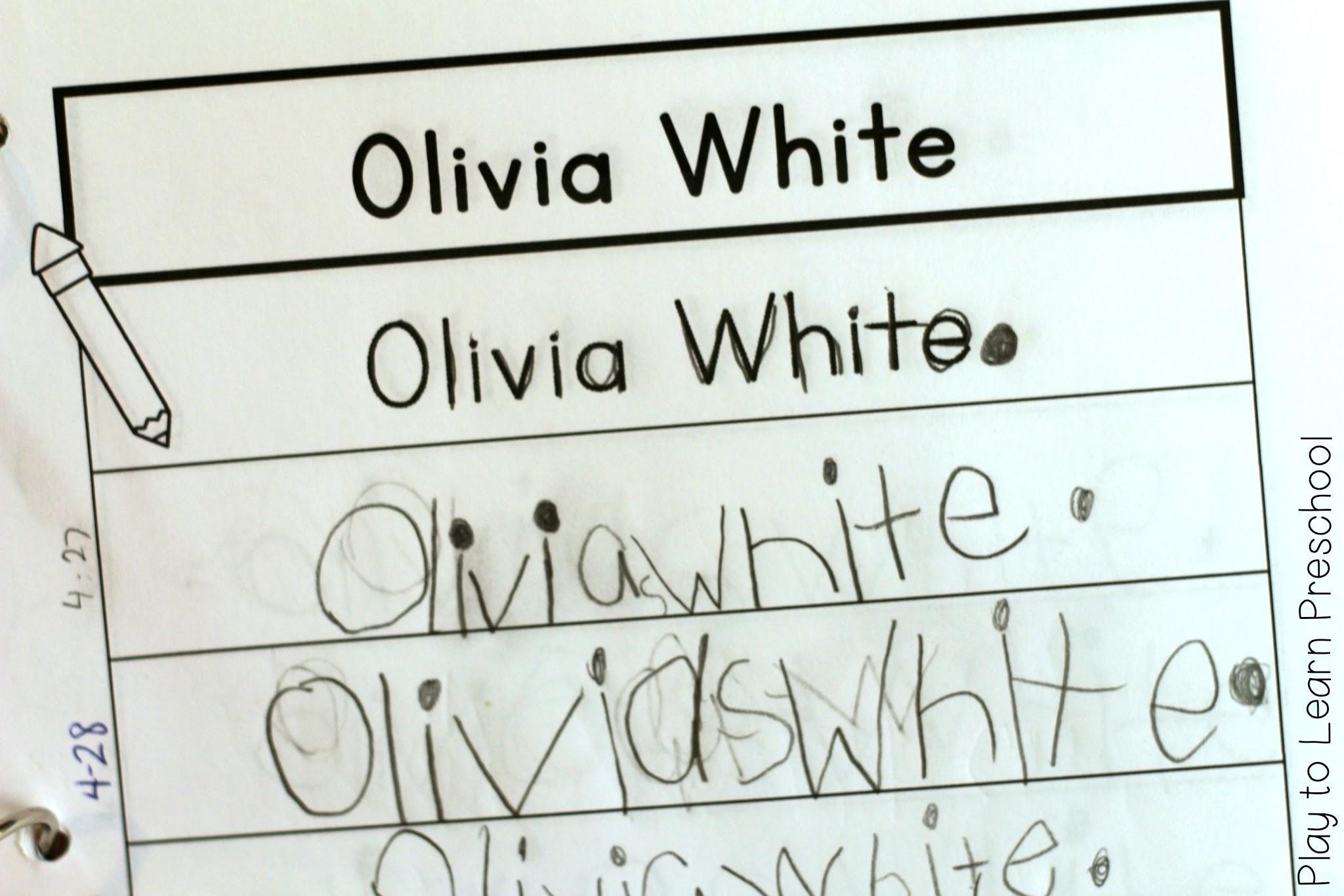 Preschool Worksheets Writing Name 2