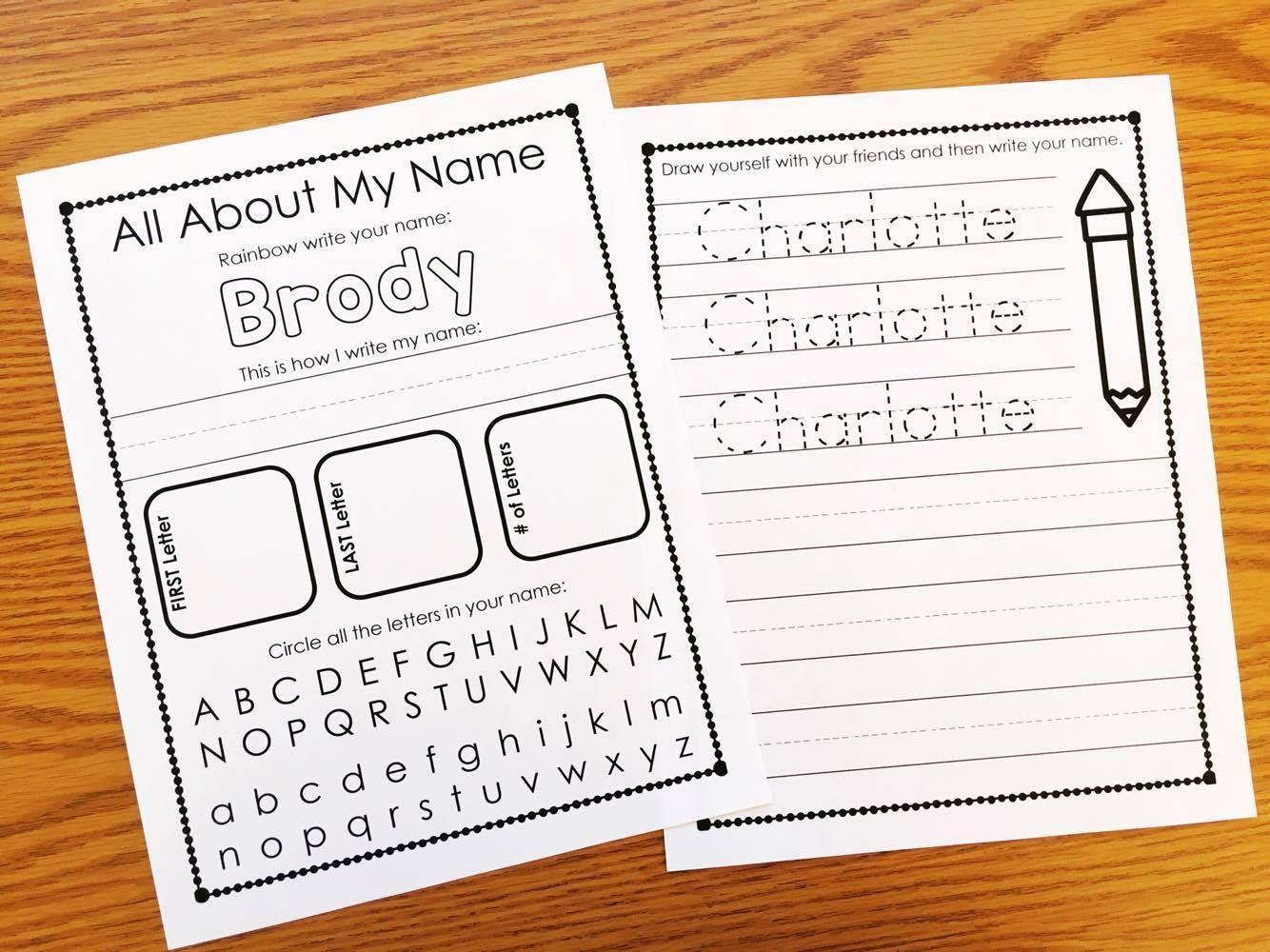 Preschool Worksheets Writing Name 5