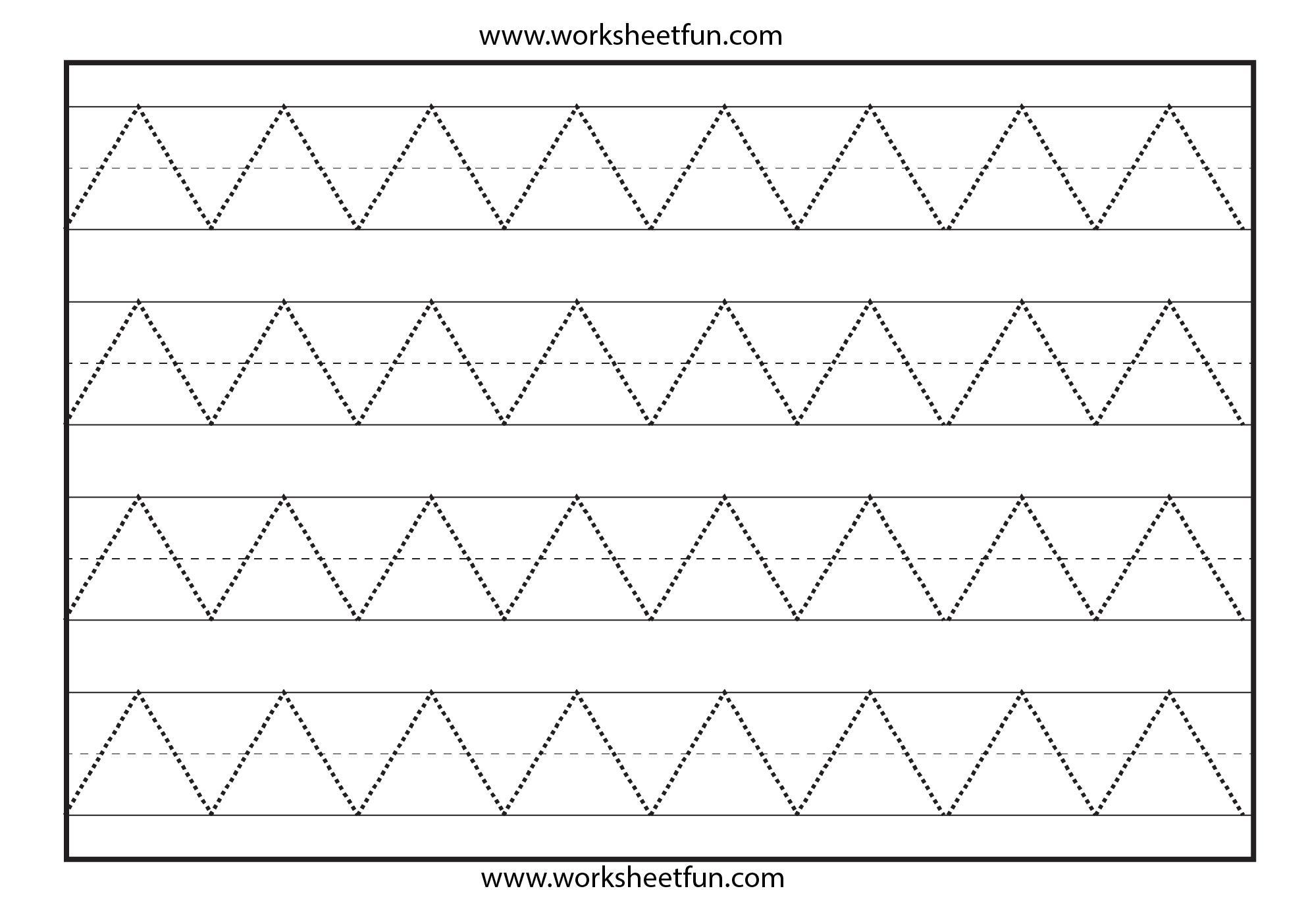 Tracing Lines Worksheets For Preschool Pdf
