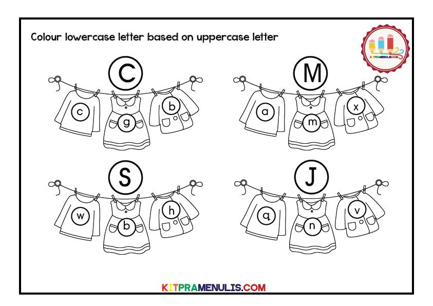 Upper And Lowercase Preschool Worksheets 2