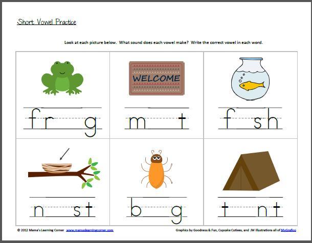 Vowel Worksheets For Preschool