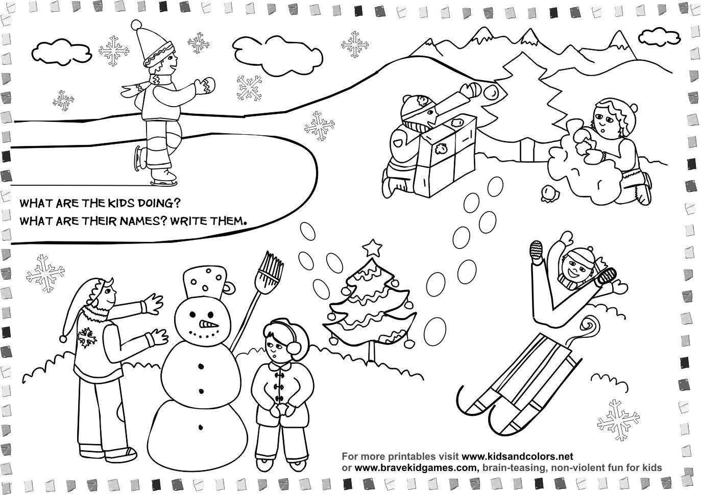 Winter Animals Preschool Worksheets