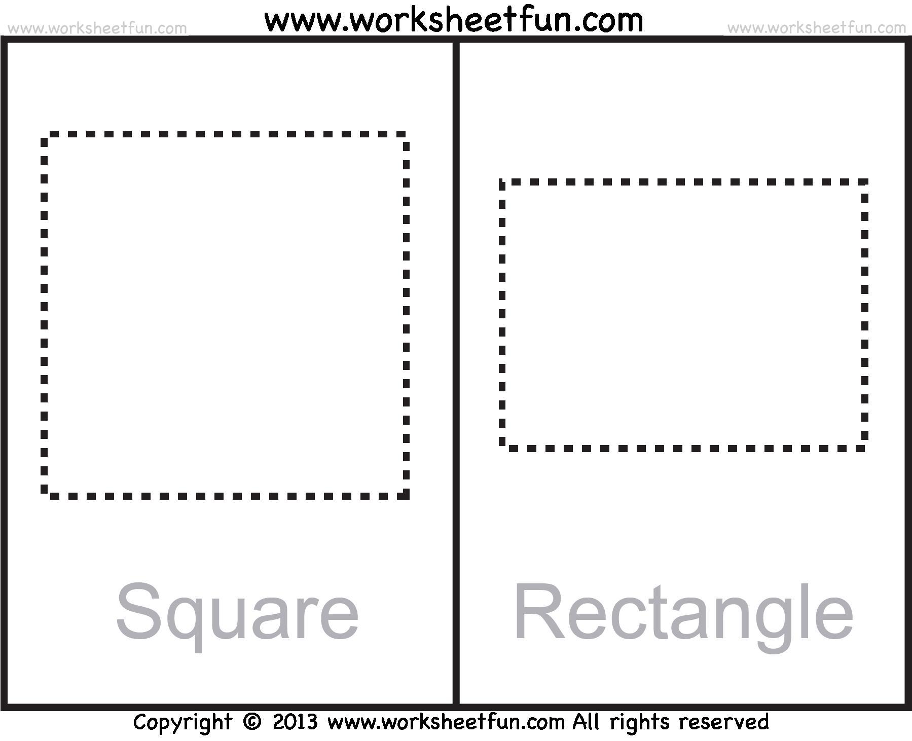 Worksheets On Rectangle For Preschool 2