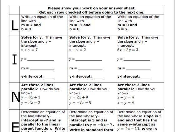 Algebra Worksheets 8th Grade