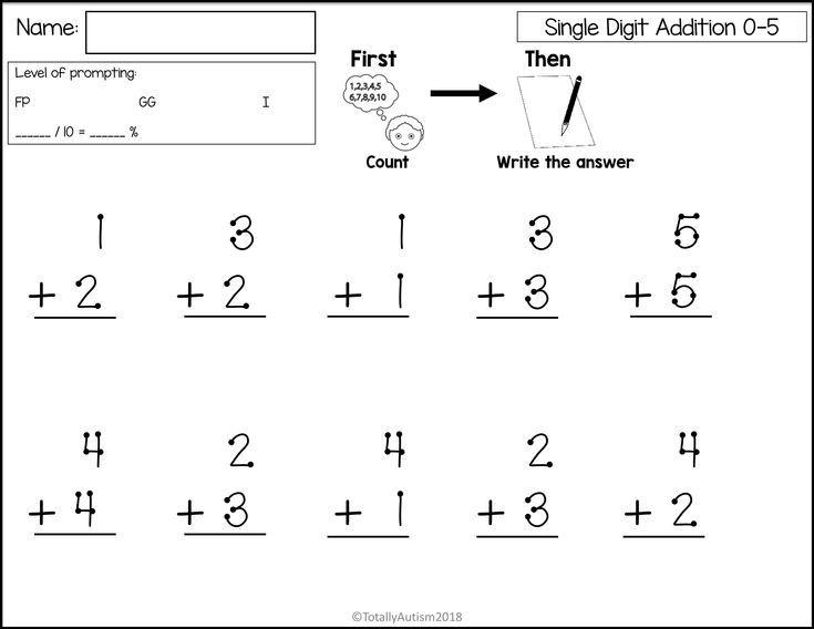Free Printable Math Worksheets Single Digit Addition