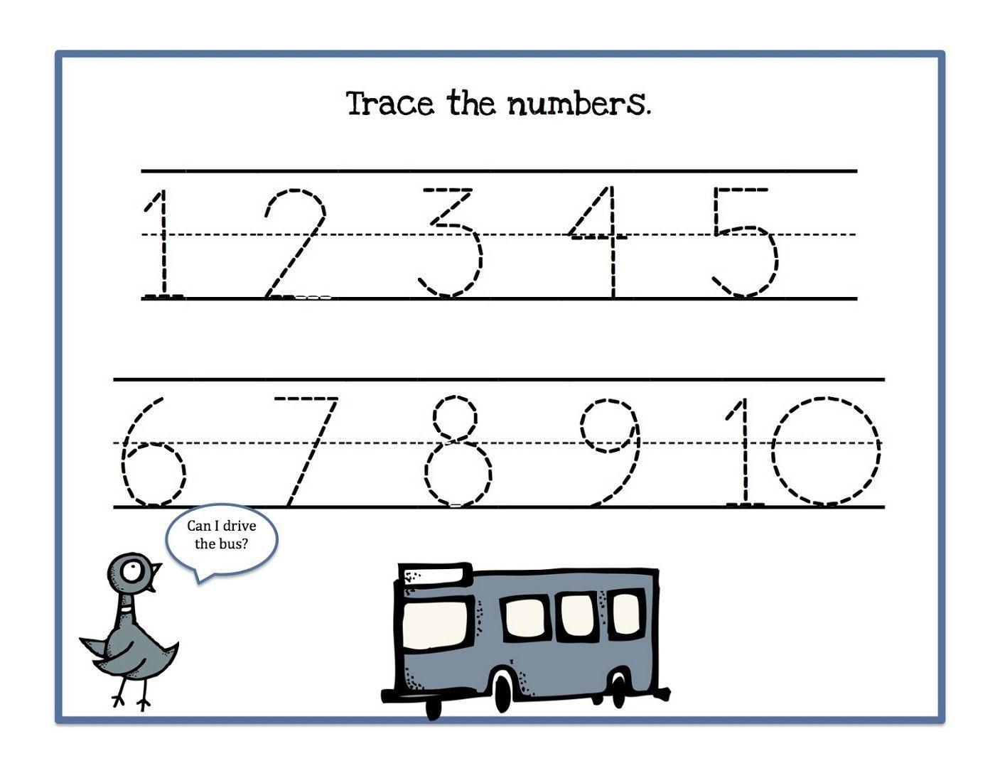 Kindergarten Math Worksheets Missing Numbers 1-10