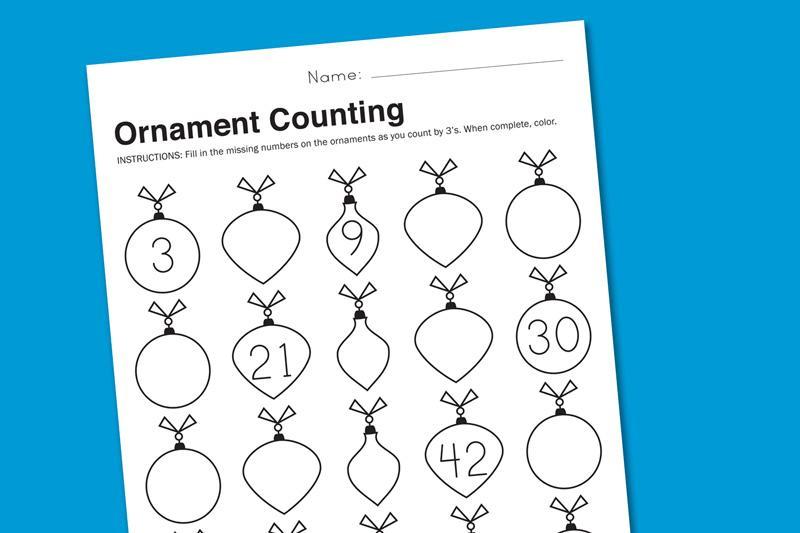 Math Christmas Worksheets 4th Grade