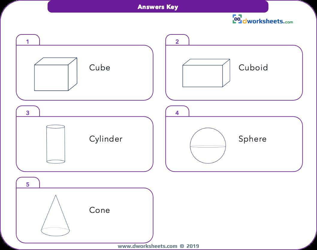 Math Shapes Worksheets 1st Grade