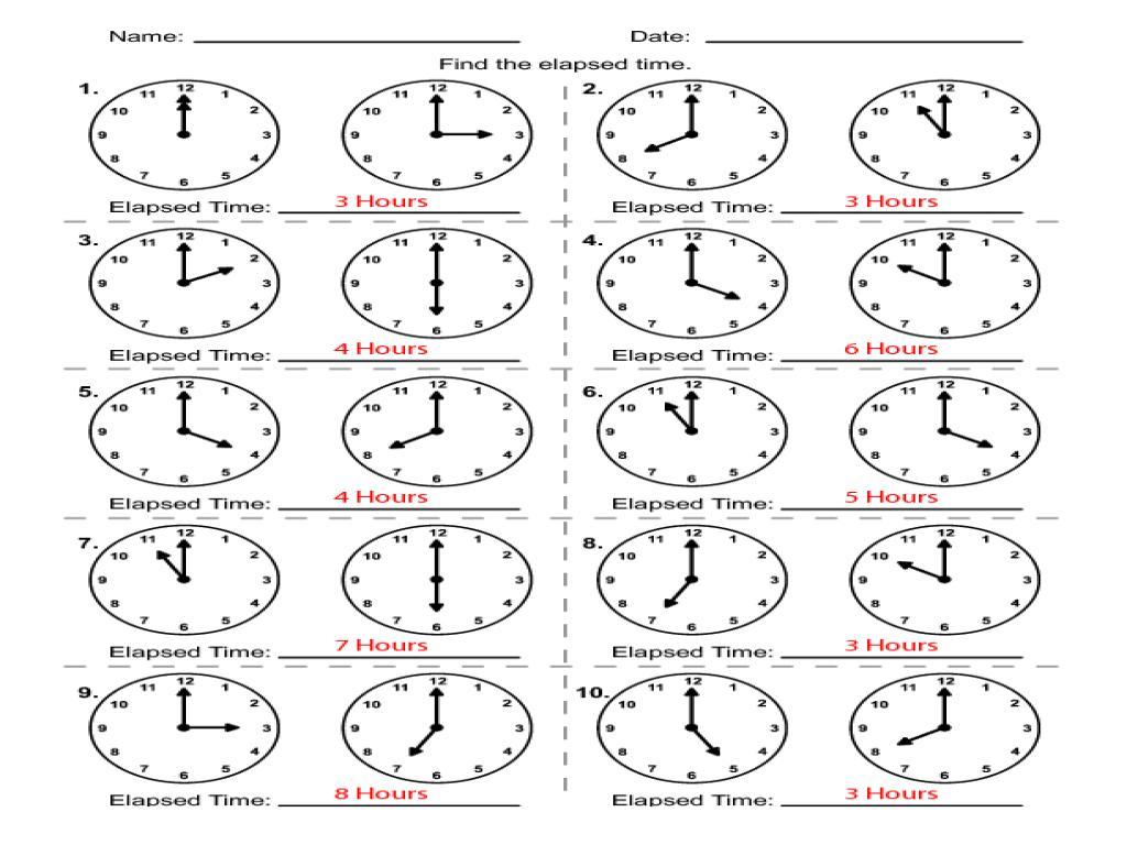 Math Timed Worksheets Printable