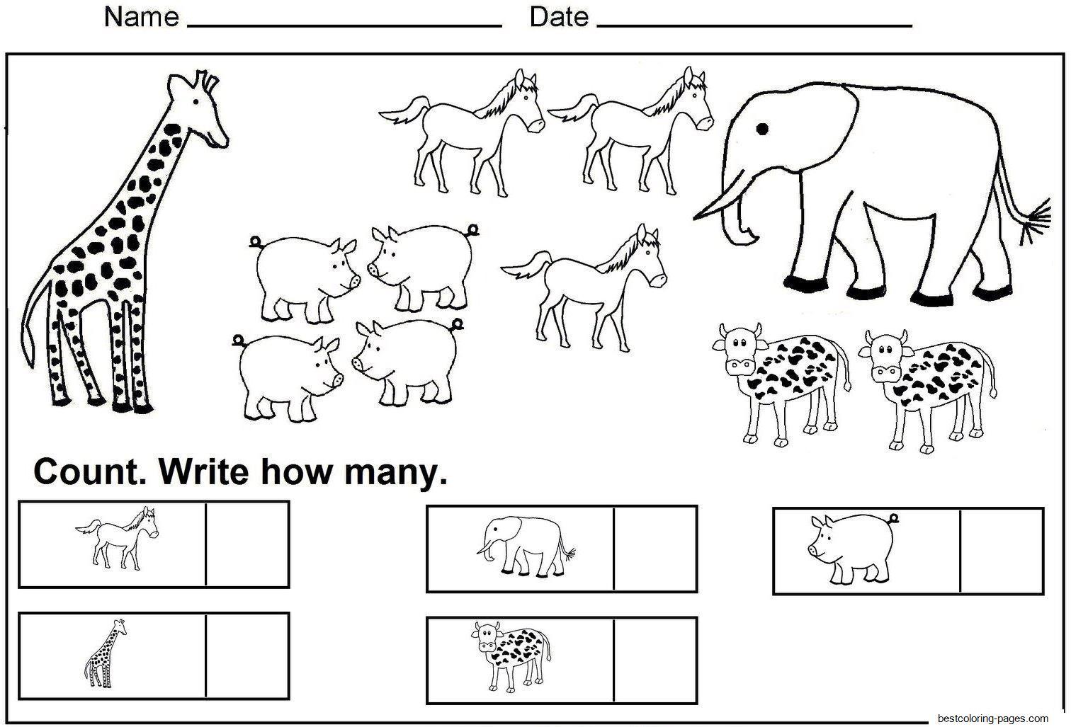 Math Worksheets For Jr Kg Students 9
