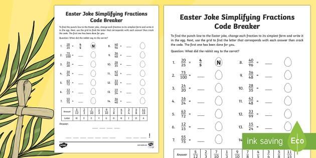 Math Worksheets Joke 5