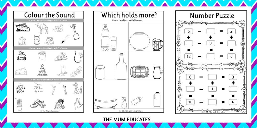 Math Worksheets Reception 1