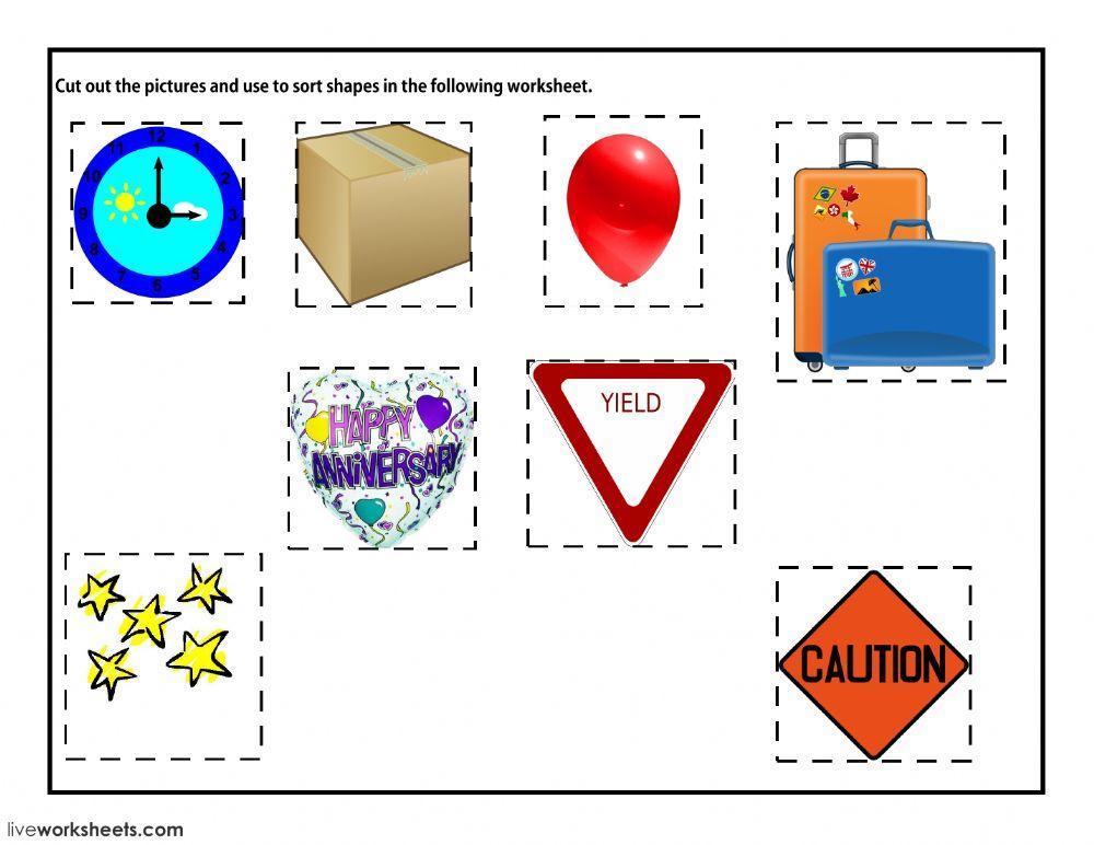Math Worksheets Shapes 1