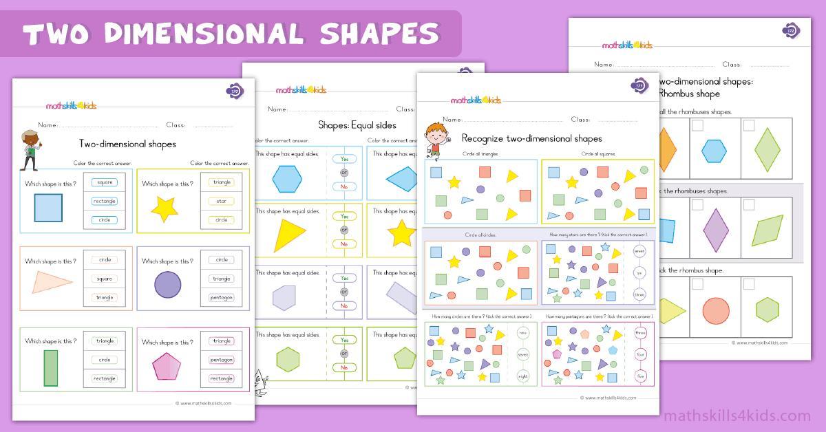 Math Worksheets Shapes Kindergarten
