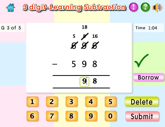 Math Worksheets Subtraction With Regrouping 3 Digits