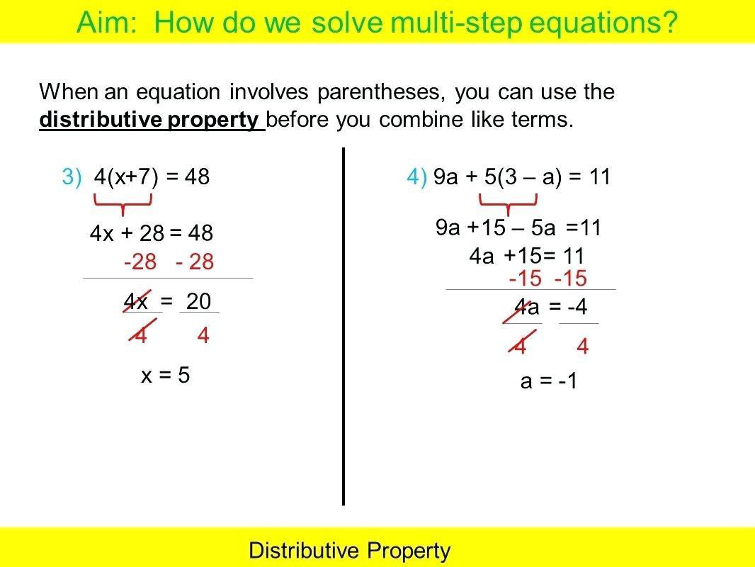 Math Worksheets Variables On Both Sides 1