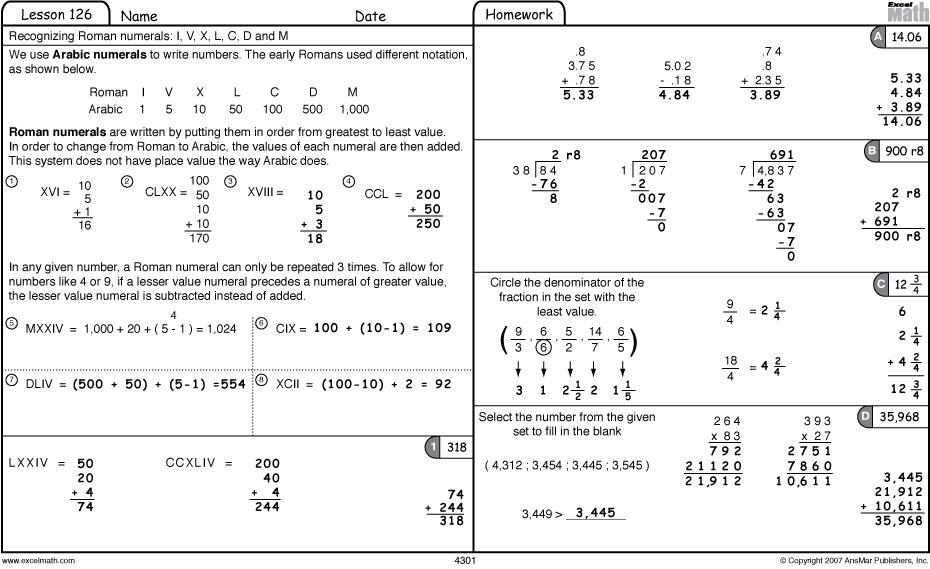 Math Worksheets With Answers For 6th Grade