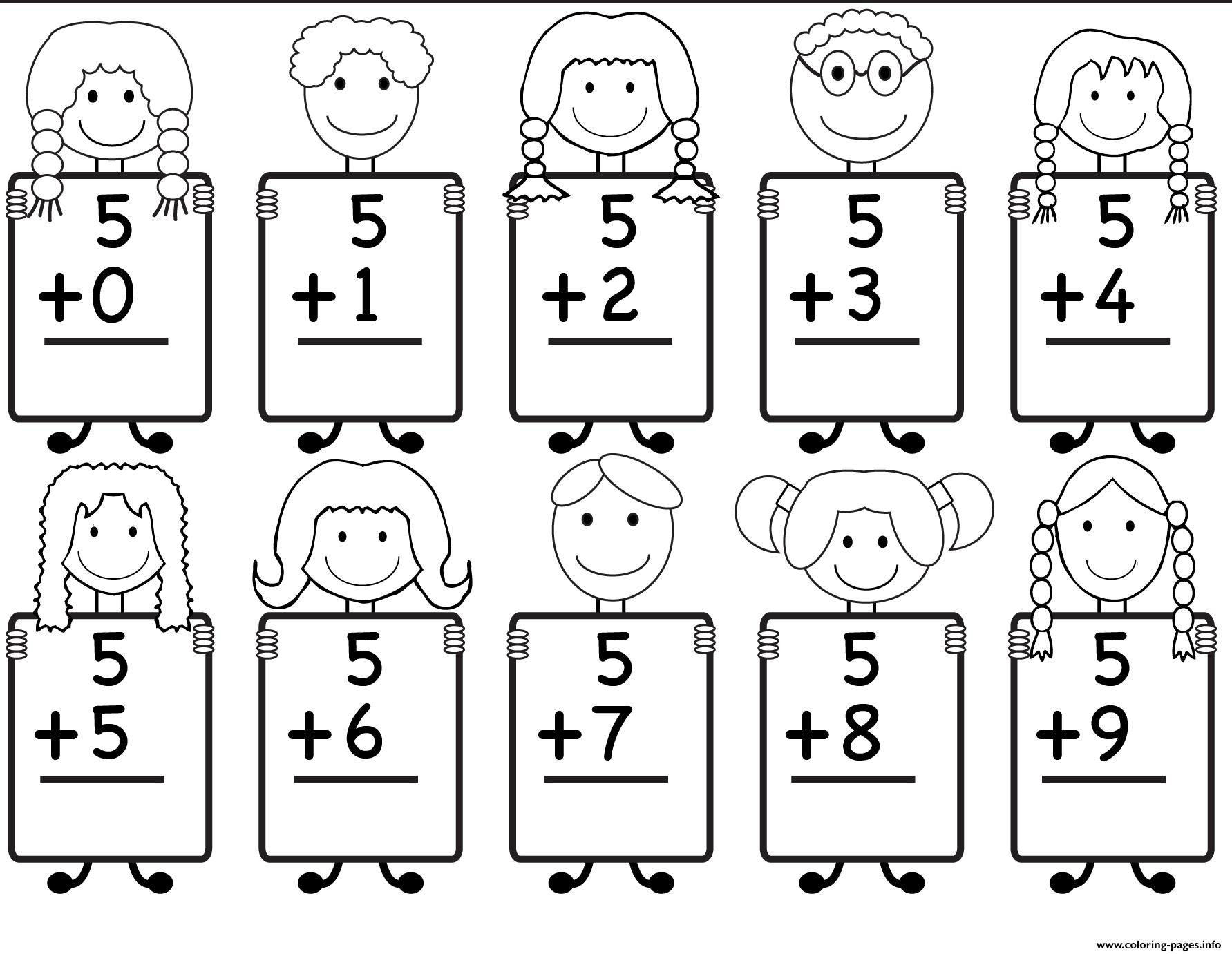 Math Worksheets With Pictures 1