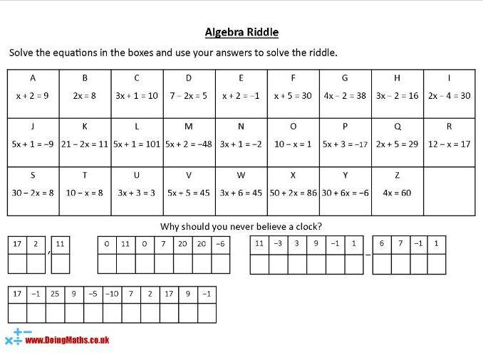 Maths Worksheets Ks3 With Answers