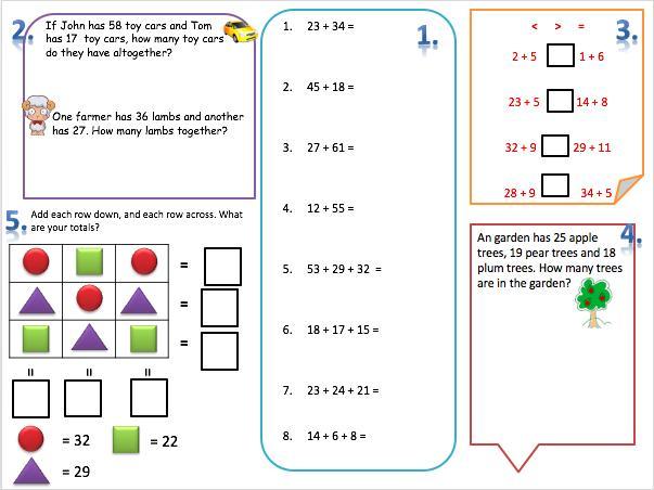 Maths Worksheets Year 2 Australia