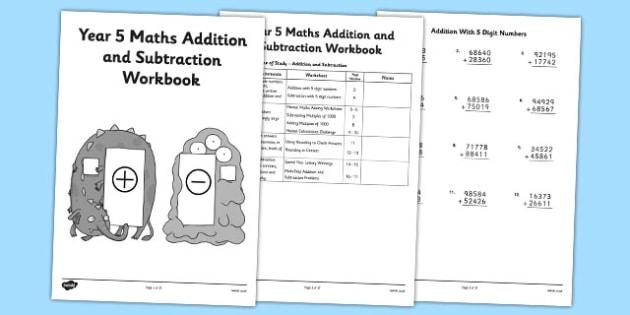 Maths Worksheets Year 5 Addition And Subtraction
