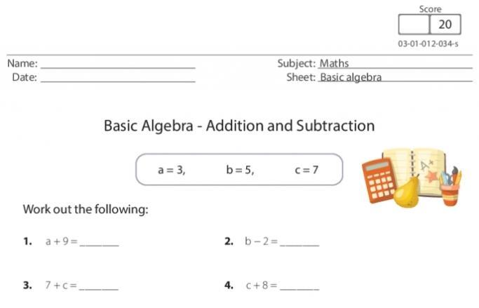 Pre Algebra Worksheets Adding Subtracting Integers