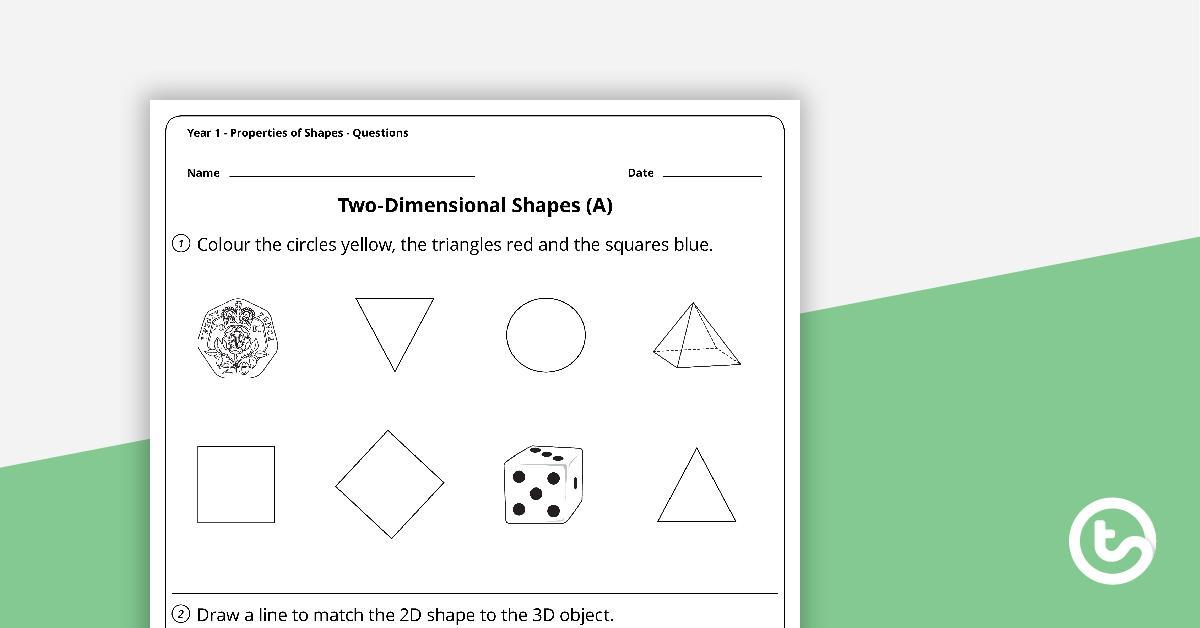 Preschool Math Worksheets Shapes