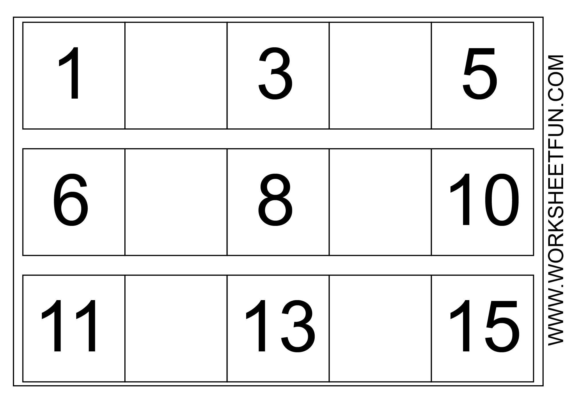 Printable Math Worksheets Missing Numbers